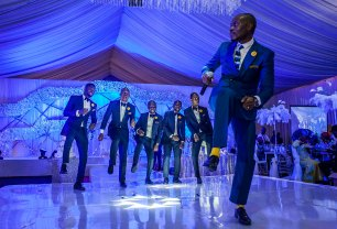 Andrew Esiebo, Dancing time at a high society wedding party in Ikeja, the administrative district of Lagos.