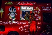 Andrew Esiebo, Mobile ice-cream vendor at the annual Gidifest culture and music festival on the Elegushi beach in Lagos.