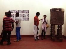 Visiteurs au Musée la Blackitude