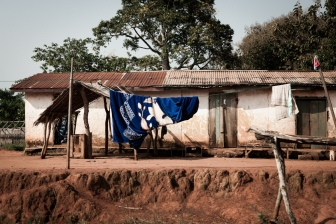 Elisabeth's home in Abou Boutila, East Cameroon. © Dominique Catton.