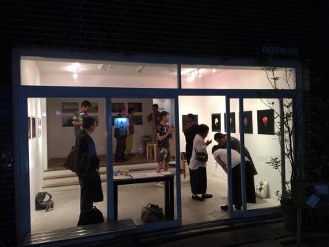 Lights off as last visitors leave on opening evening. Image: Narito Fukushima.