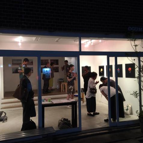 Lights off as last visitors leave on opening evening. Image: Narito Fukushima.