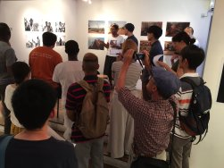 Visitors during curator's talk. Image: Arakawa Africa.