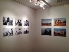 Left: work by Blaise Djilo. Right: work by Yvon Ngassam. Image: YaPhoto.