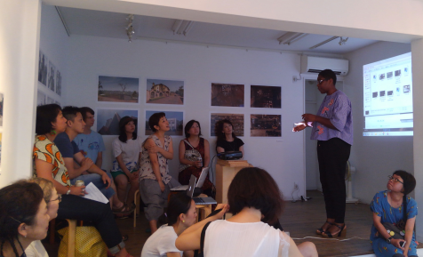 Christine Eyene introducing YaPhoto and Digital Africa. Image: Takako Yamoto.