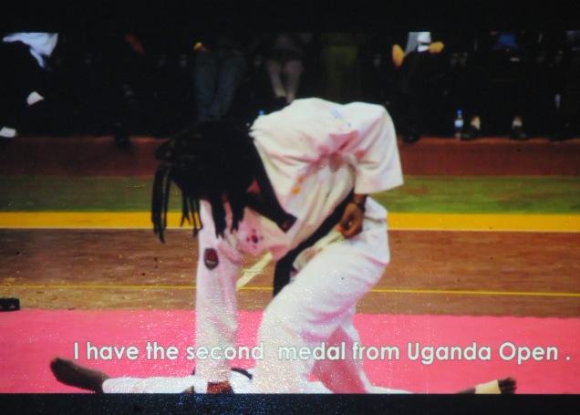 Jean-Baptiste Nyabyenda, still from Zura Taekwondo Fighter screened at Musée Blackitude as part of Digital Africa.