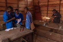 Welding workshop. Collège Saint-Joseph. Mbo Yom area. © Yvon Ngassam.