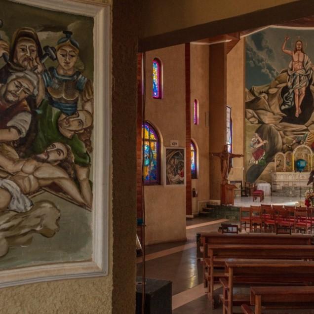 Catholic church. Mbou'o area. © Yvon Ngassam.