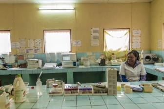 Medical laboratory. Ad Lucem Hospital. Pete area. © Yvon Ngassam.