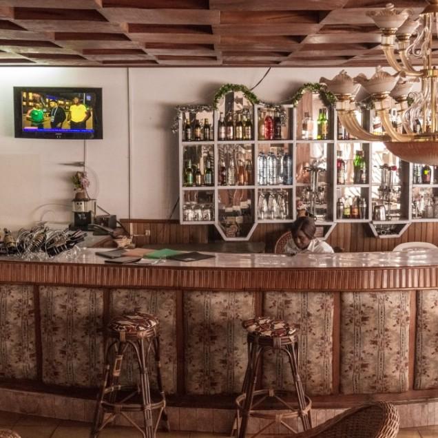 Hotel bar Centre climatique de Bandjoun, Mbou'o area. © Yvon Ngassam.